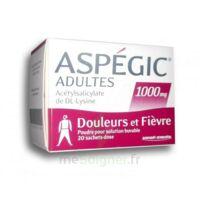 ASPEGIC ADULTES 1000 mg, poudre pour solution buvable en sachet-dose 20 à LA SEYNE SUR MER