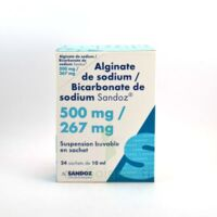 ALGINATE DE SODIUM/BICARBONATE DE SODIUM SANDOZ 500 mg/267 mg, suspension buvable en sachet à LA SEYNE SUR MER