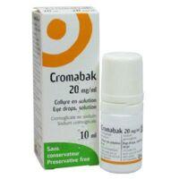 CROMABAK 20 mg/ml, collyre en solution à LA SEYNE SUR MER