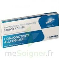 CROMOGLICATE DE SODIUM SANDOZ CONSEIL 2 %, collyre en solution en récipient unidose 10Unid/0,3ml à LA SEYNE SUR MER