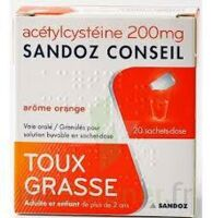 ACETYLCYSTEINE SANDOZ CONSEIL 200 mg Glé solution buvable en sachet-dose 20Sach/1g à LA SEYNE SUR MER