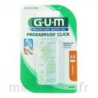 GUM PROXABRUSH CLICK, 0,9 mm, ocre jaune , blister 6 à LA SEYNE SUR MER