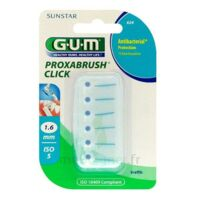 GUM PROXABRUSH CLICK, 1,6 mm, bleu , blister 6 à LA SEYNE SUR MER